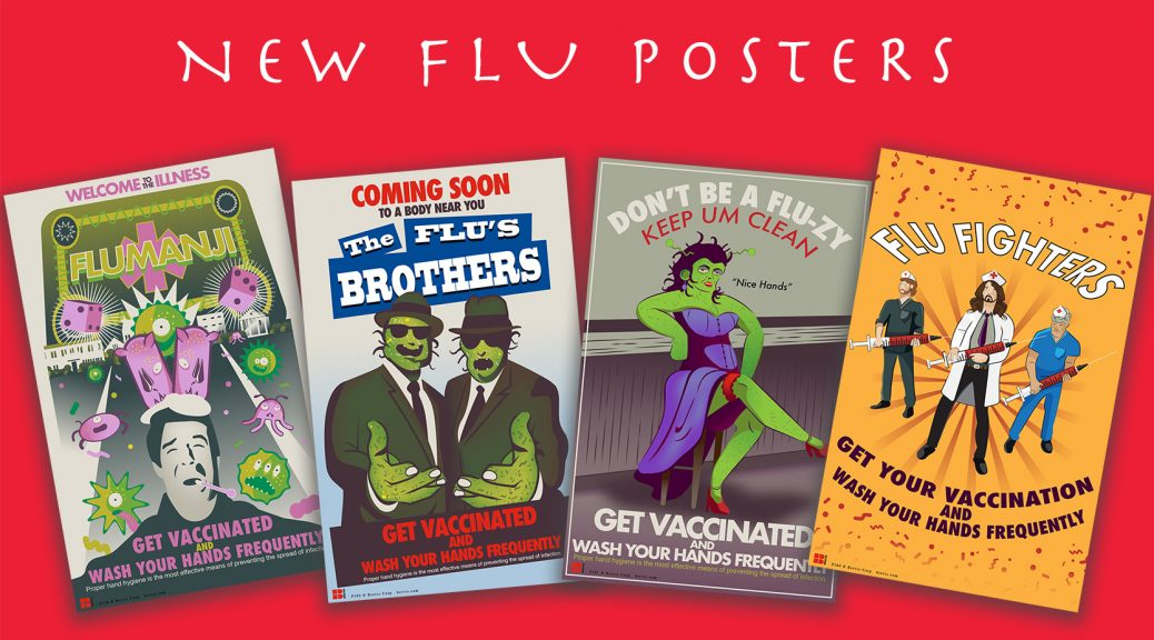 Flu educational posters