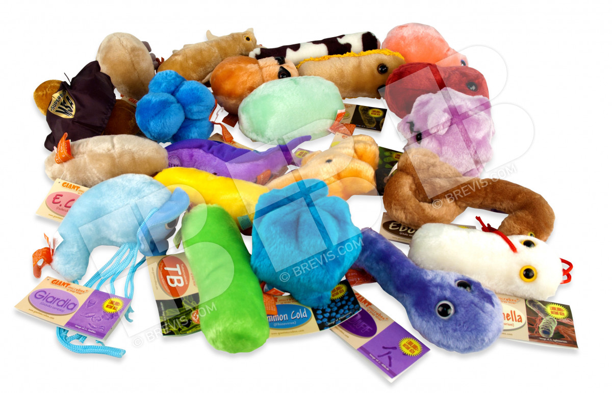 Giant Microbe Assortment Set of 21 Giant Microbes - Brevis e0bb253336ae