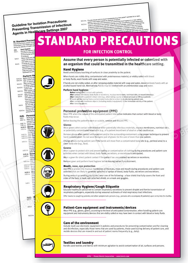 standard precautions Evidence-based information on standard precautions in infection control from hundreds of trustworthy sources for health and social care.