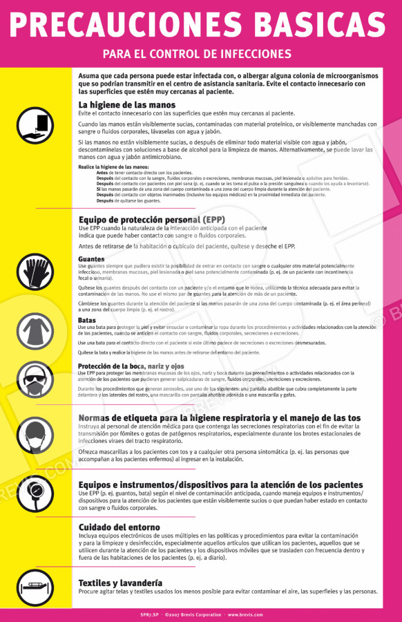 spr7 sp standard precautions sign  spanish only