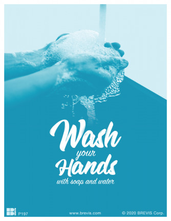 Wash Your Hands With Soap and Water Poster