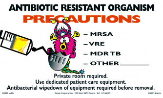 Antibiotic Resistant Organism Precautions Sign