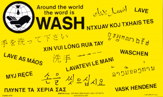 Around the World / Sink A Germ Poster