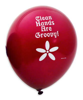 Clean Hands are Groovy Balloons (12/pack)