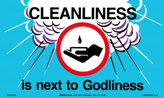 Cleanliness Reminder Card