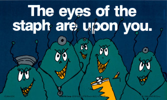 The eyes of the Staph/Is there FUNGUS Reminder Card