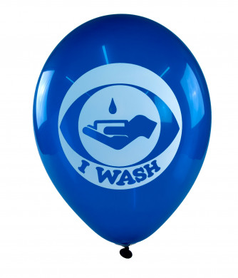 I Wash Balloons - a vivid reminder to WASH.