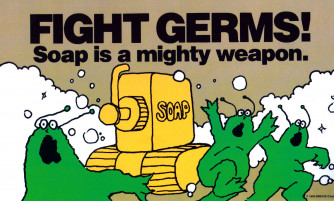Fight Germs Reminder Card