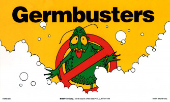 Germbusters Stickers, Classic Design