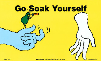 Go Soak Yourself/Torpedo A Germ Poster