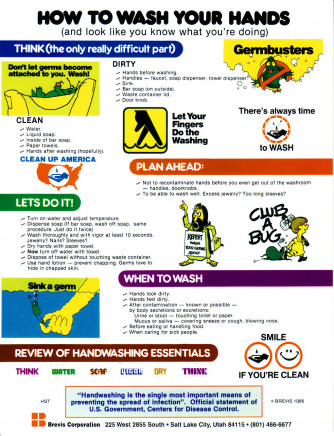 How To Wash Your Hands Sticker