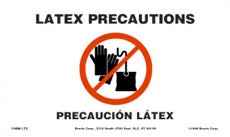 Latex Precaution Sign