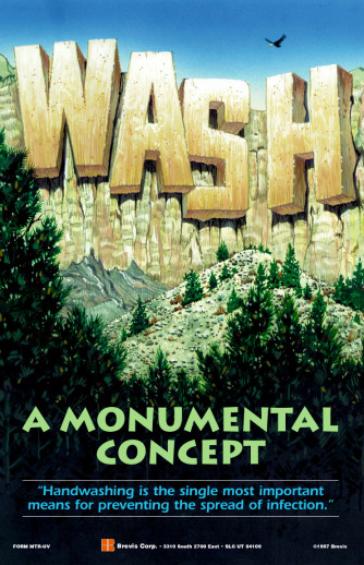 Wash, A Monumental Concept Poster, Laminated
