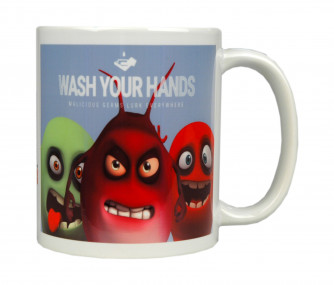 Germs, Wash Your Hands Mug, 11 oz