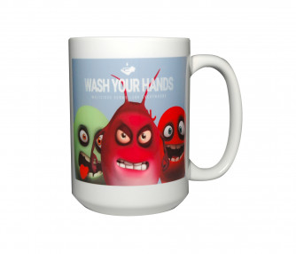 Wash Your Hands GERMS Mug, 15oz