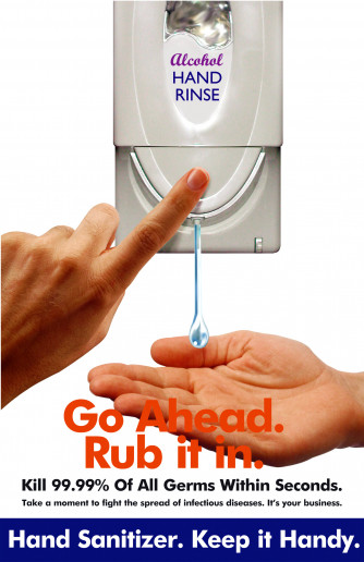 Hand Sanitizer Poster - Rub It In