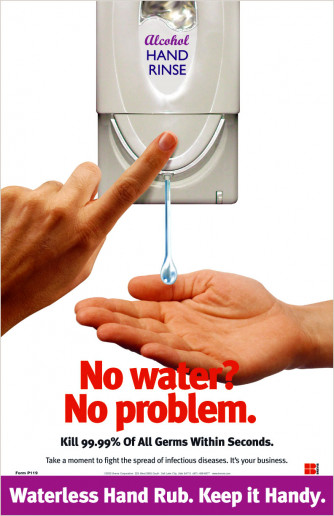 No Water Hand Sanitizer Poster