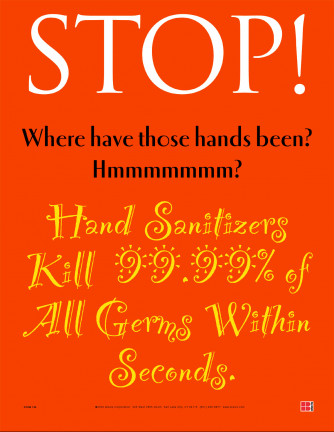 Stop Where have those Hands Poster