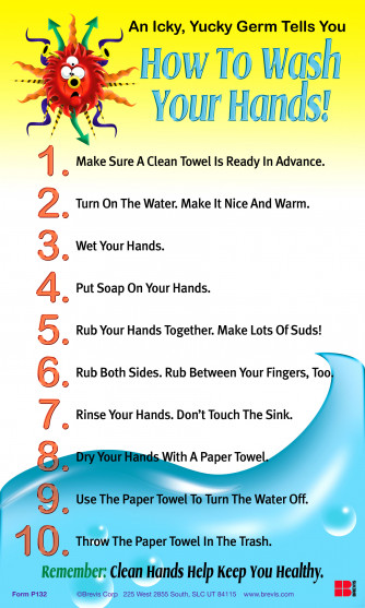 How to Wash You Hands, Laminated