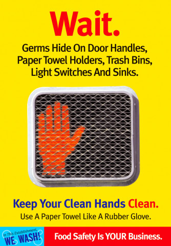 Wait, Germs Hide Poster