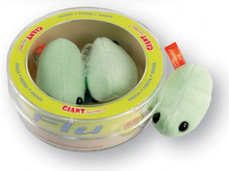 Orthomyxovirus (Flu) Mini Microbe Set of 3 Plush Minis.