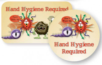 Hand Hygiene Required Button.