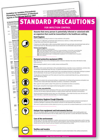 Standard Precautions Sign Laminated