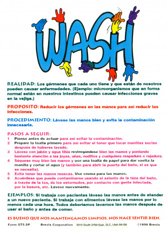 WASH Sticker, Spanish