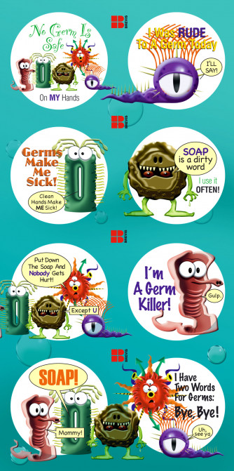 Germ Stickers Page