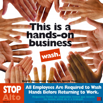 Hands on Business Sticker.