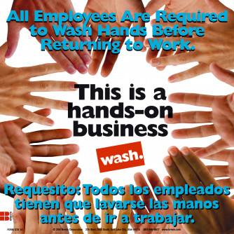 Hands on Business Sticker