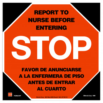 STOP Sign, English/Spanish with Lamination