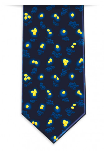 MRSA Neck Tie in Blue and Gold