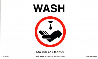 Wash/Handwash Precautions , 2-sided