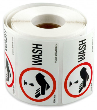 Wash Stickers, roll of 400