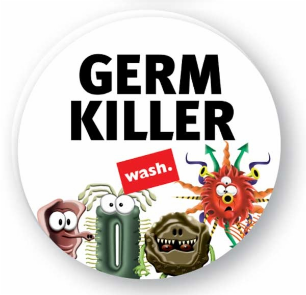 Germ killer caign button