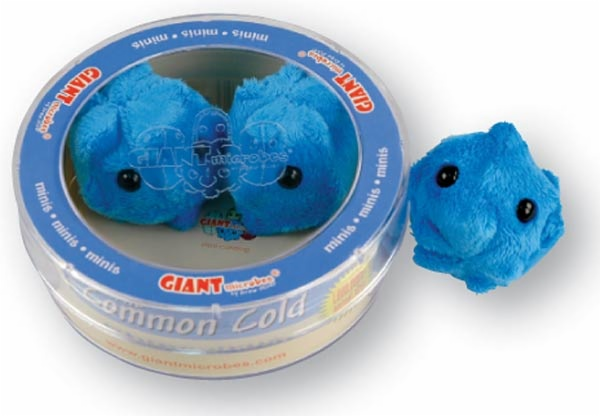 Each set includes 3 mini size plush microbes in a faux petri dish