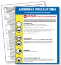 APR7.PL Airborne Precautions, English only, plastic laminated