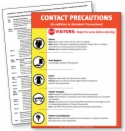 CPR7.PL Contact Precautions Sign, English only, plastic laminated