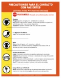 CPR7.SP Contact Precautions Sign, Spanish