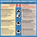 RHC7.ES Respiratory Hygiene/Cough Etiquette sign in English & Spanish