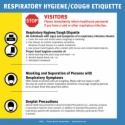 RHC7 Respiratory Hygiene/Cough Etiquette Sign, English